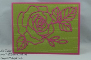 Stampin' Up! Pretty Petals DSP stack and Rose Garden thinlits dies