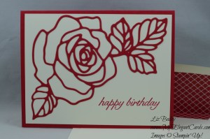 Stampin' Up! Rose Garden Thinlits dies and Birthday Blossoms