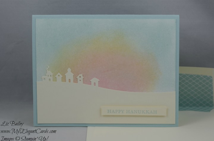 Stampin' Up! Sleigh Ride Edgelits and Happy Hanukkah