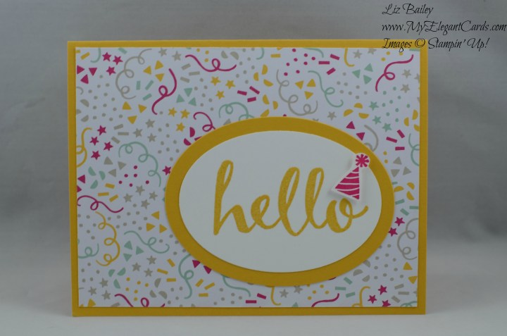 Stampin' Up! It's My Party DSP and Hello
