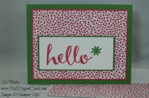 Stampin' Up! Love Blossoms DSP and Hello