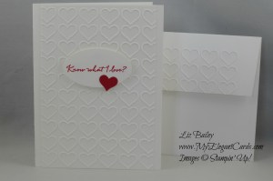 Stampin' Up! What I Love and Happy Heart TIEF