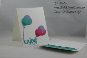 Stampin' Up! Balloon Celebration and Mini Treat bag thinlits dies