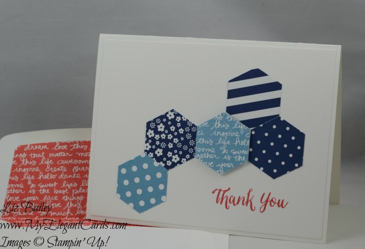 Stampin' Up! Hexagon Punch and Rose Wonder