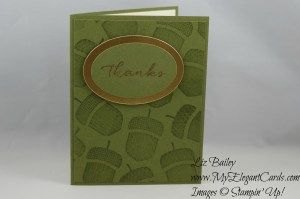 Stampin' Up! Acorny Thank you and Watercolor Wishes