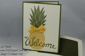 Stampin' Up! Pineapple and Welcome Words