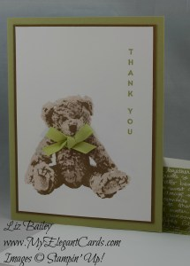 Stampin' Up! Baby Bear and Vertical Greetings