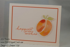 Stampin' Up! Fruit Stand DSP and Watercolor Wishes