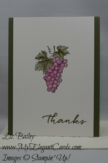 Stampin' Up! Tuscan Vineyard and Watercolor Wishes