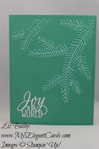 Stampin' Up! Pine Bough TIEF and Tin of Tags