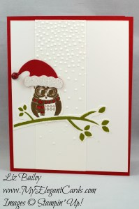 Liz Bailey Stampin' Up! Demonstrator - Cozy Critters - Softly Falling TIEF - Jolly Hat Builder Punch