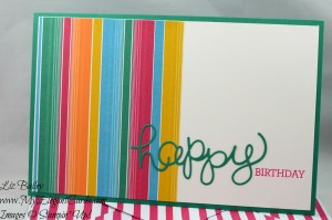 Liz Bailey Stampin' Up! Demonstrator - Festive Birthday DSP - Hello You thinlits dies - Crazy about you