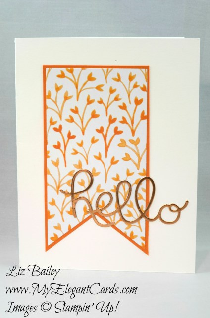 Liz Bailey Stampin' Up! Demonstrator - Fruit Stand DSP - Hello You Thinlits Dies