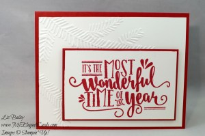 Liz Bailey Stampin' Up! Demonstrator - Wonderful Year - Pine Bough TIEF