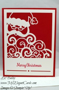 Liz Bailey Stampin' Up! Demonstrator - Detailed Santa Thinlits Dies - Star of Light