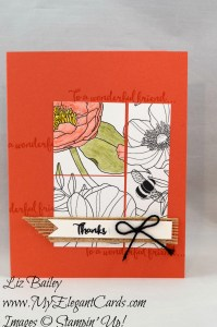 Liz Bailey Stampin' Up! Demonstrator - Inside the Lines DSP - Dragonfly Dreams