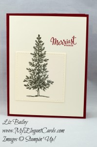 Liz Bailey Stampin' Up! Demonstrator - Lovely As A Tree - Stitched Shapes Framelits Dies - Merriest Wishes