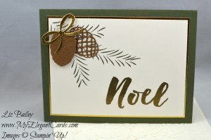 Liz Bailey Stampin' Up! Demonstrator - Pretty Pines Thinlits Dies - Christmas Pines