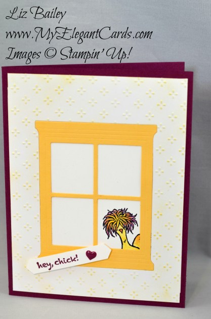 Liz Bailey Stampin' Up! Demonstrator - Fancy Frost Specialty DSP - Hey Chick - Hearth and Home thinlits