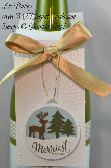 Liz Bailey Stampin' Up! Demonstrator - Merriest Wishes - Merry Tags Framelits Dies - Softly Falling TIEF