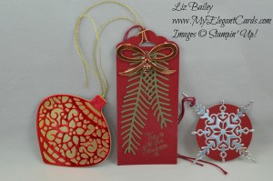 Liz Bailey Stampin' Up! Demonstrator - Starlight Thinlits dies - Perfect Pines framelits dies - Delicate Ornament Thinlits dies - Peaceful Pines
