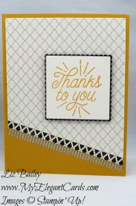 Liz Bailey Stampin' Up! Demonstrator - Designer Tin of Cards - Moroccan DSP - Layering Squares Framelits Dies