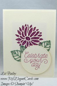 Liz Bailey Stampin' Up! Demonstrator - Glimmer Paper Assortment Pack - Designer Tin of Cards - Stylish Stems Framelits Dies - Stitched Shapes Framelits Dies