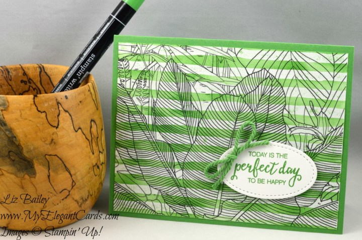 Liz Bailey Stampin' Up! Demonstrator - Inside the Lines - Brushstrokes - Bunch of Blossoms