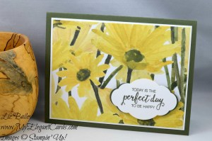 Liz Bailey Stampin' Up! Demonstrator - Pretty Label Punch - Delightful Daisy DSP - Bunch of Blossoms