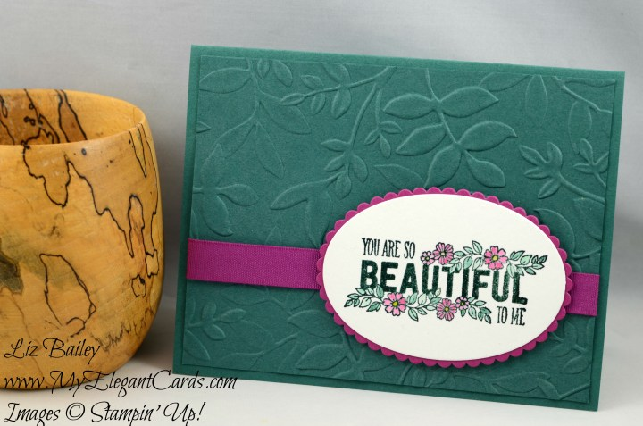 Liz Bailey Stampin' Up! Demonstrator - Just Add Text - Layering Leaves Dynamic TIEF