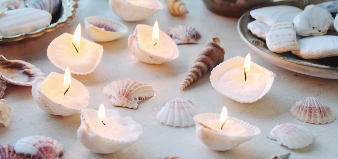 The Easiest DIY Seashell Candles You'll Ever Make