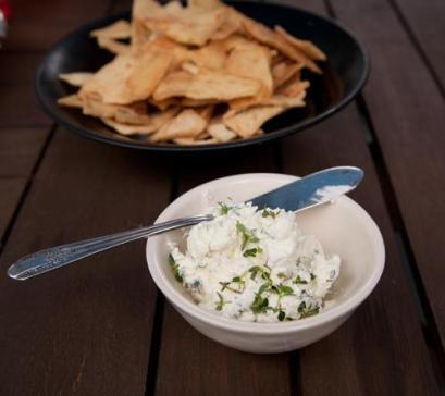 DIY spreadable yogurt cheese