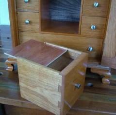 Fake nightstand drawer bottom