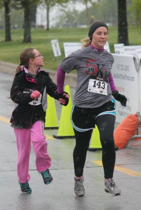 Me and Heather running May 2013