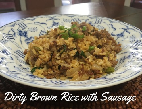 Dirty Brown Rice with Sausage