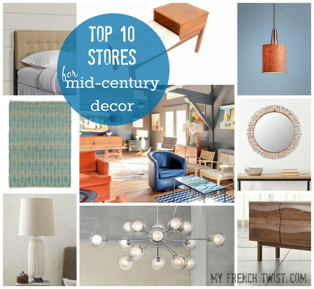 Top 10 stores for midcentury modern decor