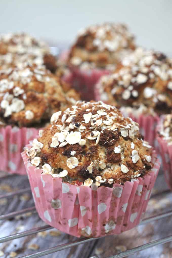 mixed spice pear muffins