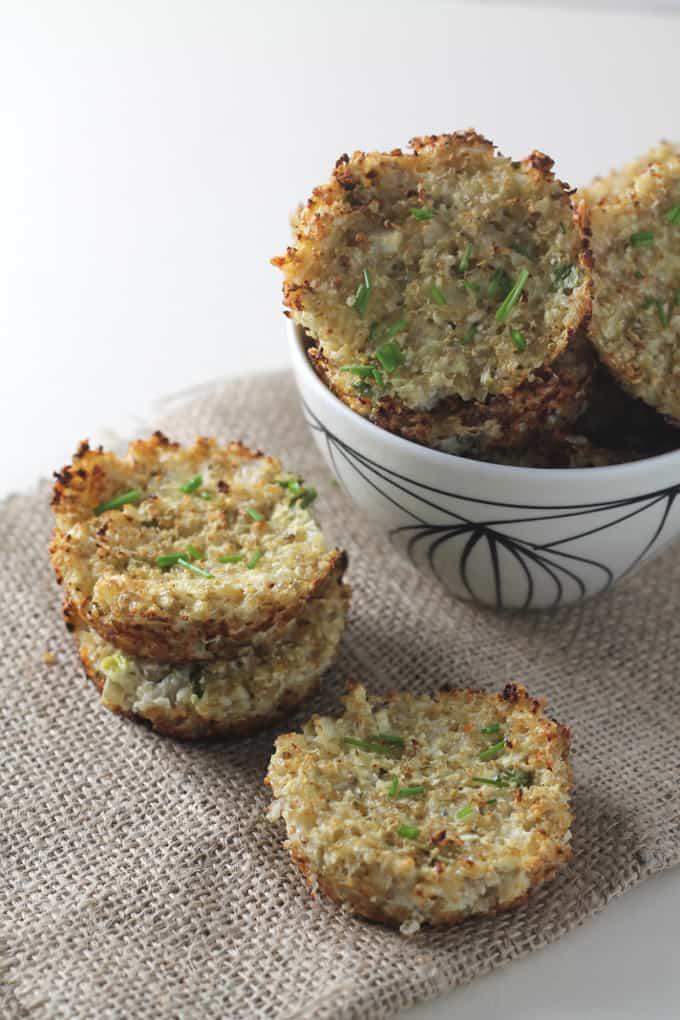 cauliflower quinoa bites muffins gluten free