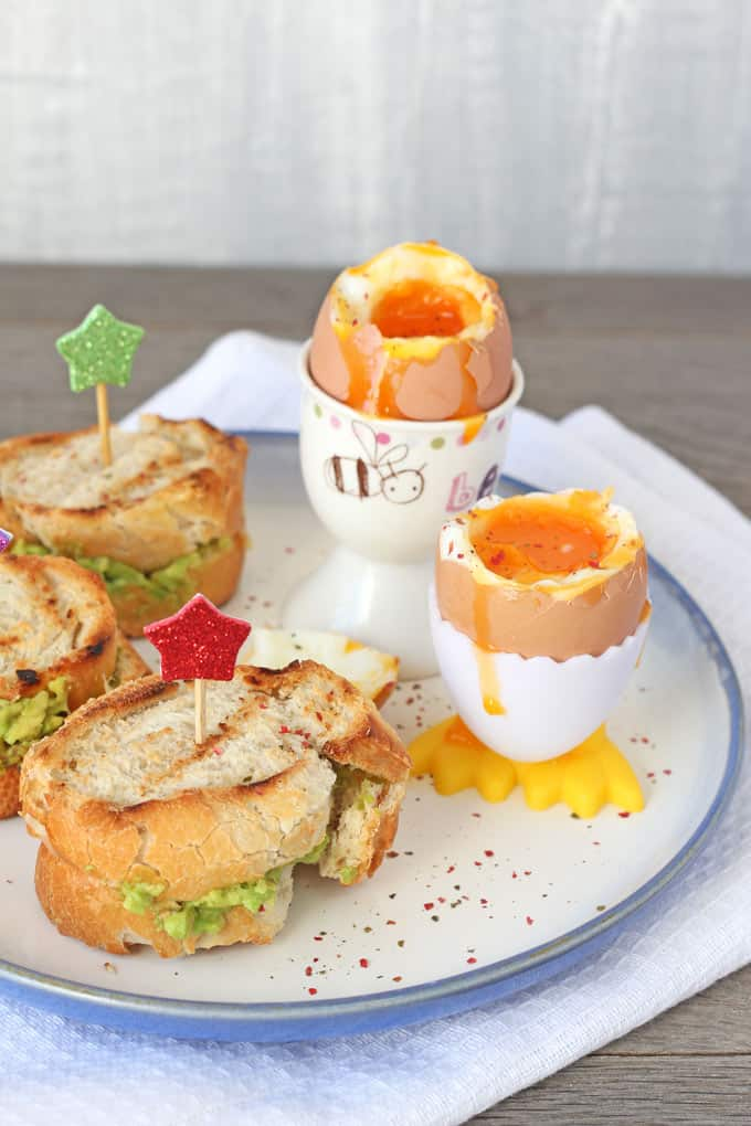 Dippy Eggs with Avocado Grilled Cheese Toasties | My Fussy Eater Blog