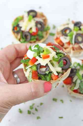 Use up leftover chilli and make these quick and easy Taco Cups filled with green and black olives, cheese and red peppers   My Fussy Eater blog