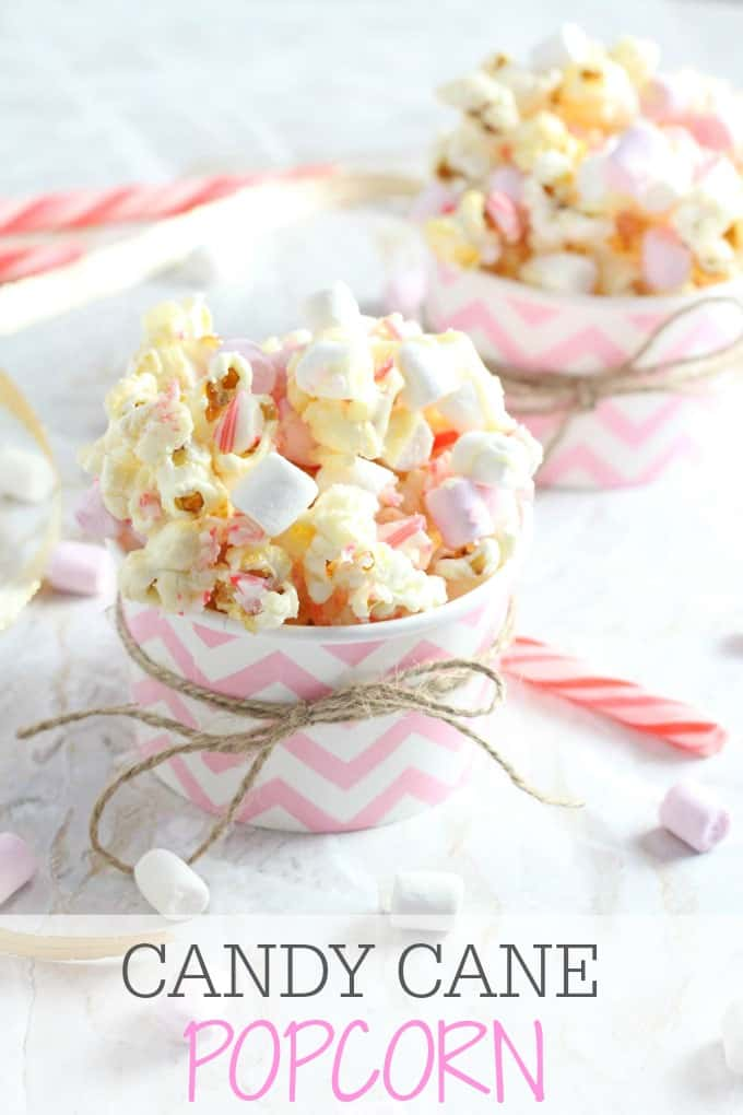 Candy Cane Popcorn with White Chocolate & Marshmallows - My Fussy ...