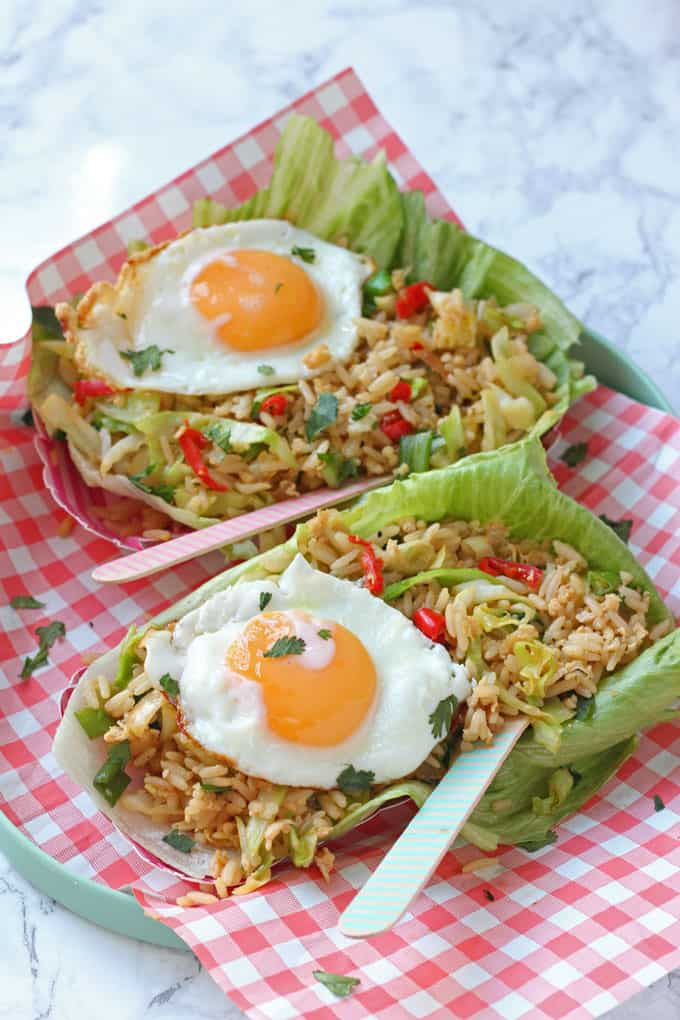 A delicious and easy recipe for Nasi Goreng, finished off with a crispy fried egg!