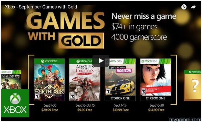 Games with Gold September 2015 free games wishlist ...