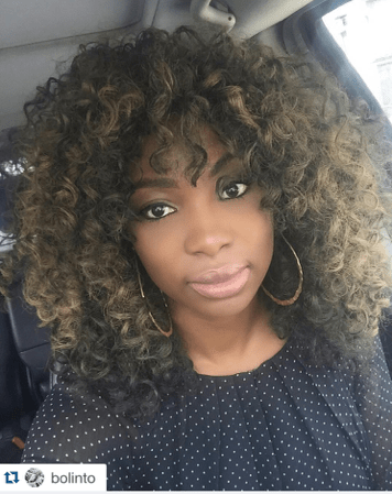 Television Personality Bolanle makes a bold statement with Big Volumnious Curls