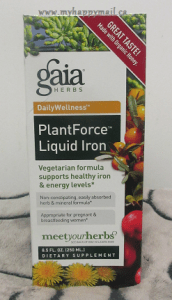 Gaia Herbs PlantForce Liquid Iron