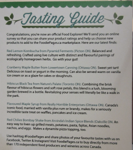 Foodiepages Tasting Guide