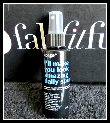 FabFitFun Summer 2015 Subscription Box Review and Promo Code - Gorge Conditioner