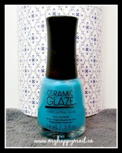 TopBox August 2015 Canadian Subscription Beauty Box Ceramic Glaze Nail Polish Mermaids Tale