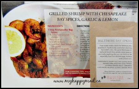 Raw Spice Bar Subscription Box The Baltimore Spice Box Grilled Shrimp With Chesapeake Bay Spices Garlic and Lemon