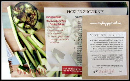 Raw Spice Bar Subscription Box The Baltimore Spice Box Pickled Zucchinis